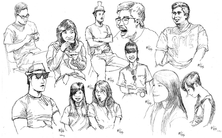 Drawings: Render 2011 Portraits