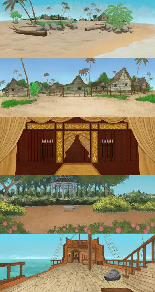 Hang Nadim online theater backdrops